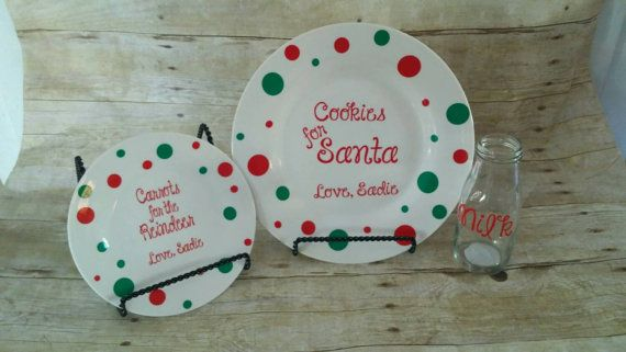 Hey, I found this really awesome Etsy listing at https://www.etsy.com/listing/255728122/santa-cookie-plate-with-milk-glass-and