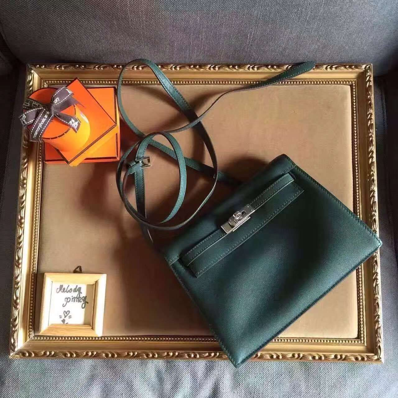 1a7680a31e39 Limited edition! Hermes kelly danse bag army green