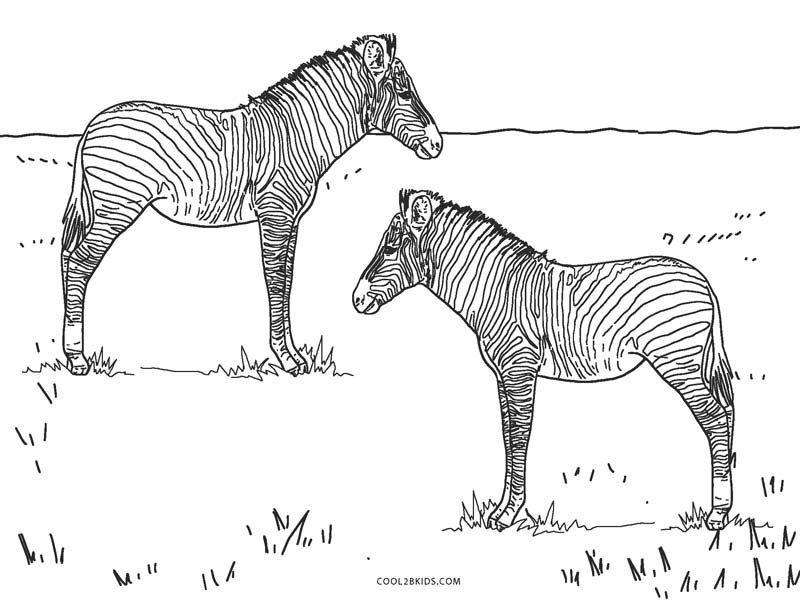 Free Zebra Coloring Pages Printable Di 2020