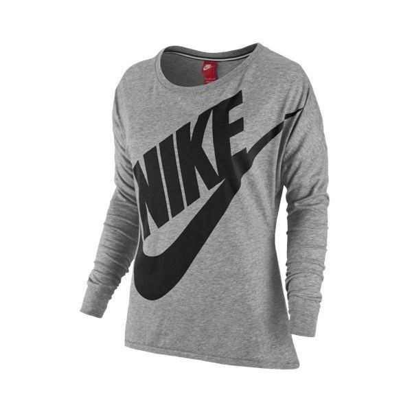 9937a7f9 Nike Signal Loose L/S T-shirt - Women's - Clothing ($35) ❤ liked on  Polyvore featuring nike