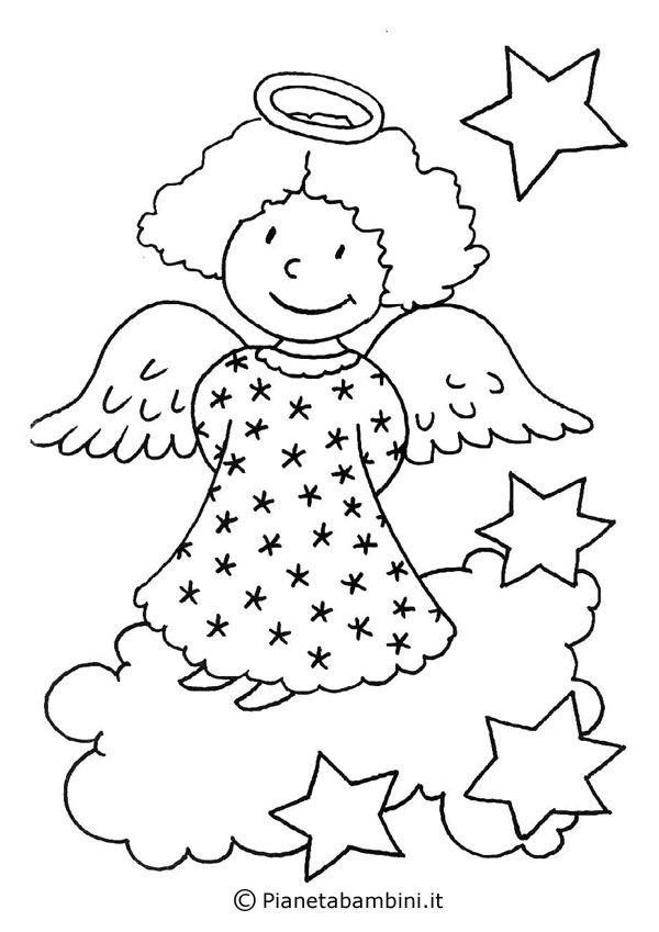 Disegni Angioletti Da Colorare Per Bambini.Pin Su Angeles