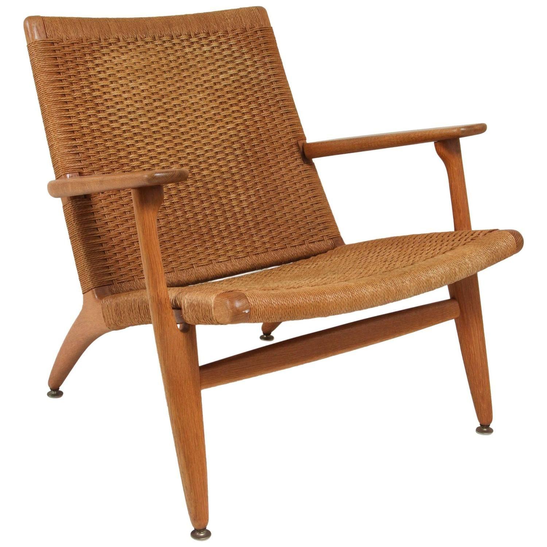 Hans wegner wicker lounge chair wicker