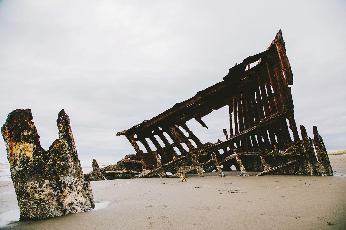 Beach wedding spots  Astoria Oregon Shipwreck  Our Travels  Pinterest  Oregon