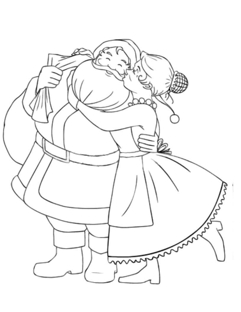Mr Amp Mrs Santa Claus Coloring Pages Christmas Coloring