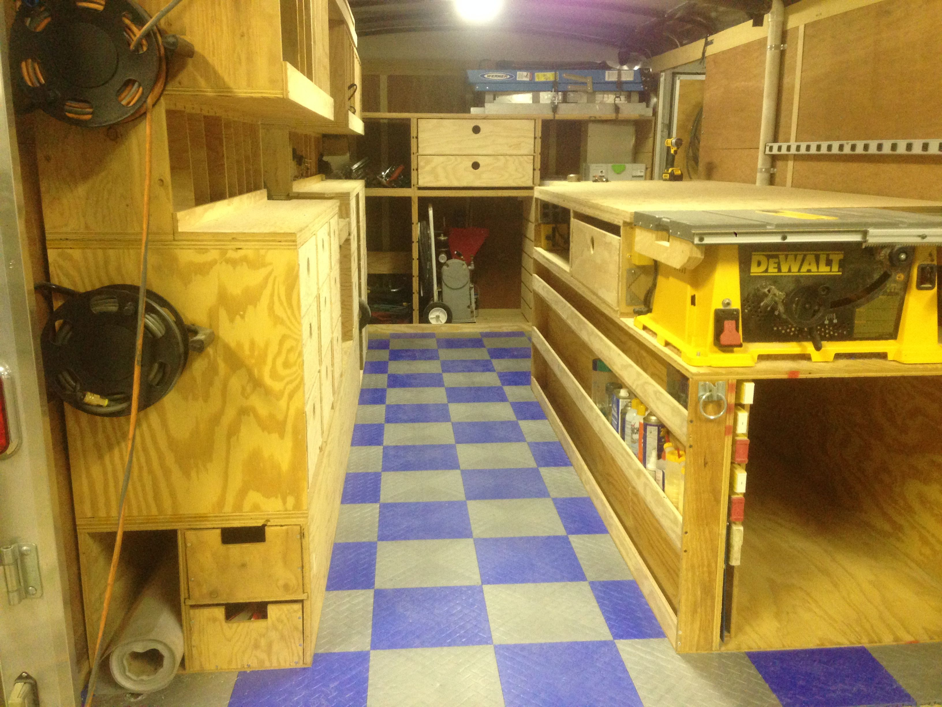 Enclosed Bed Google Search: Tool Trailer Organization - Google Search