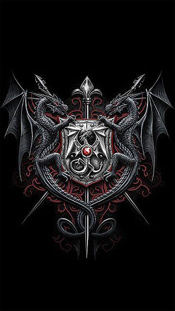 Wallpapers gothic skulls death fantasy erotic and animals dragons dragons pinterest - Gothic hintergrundbilder ...