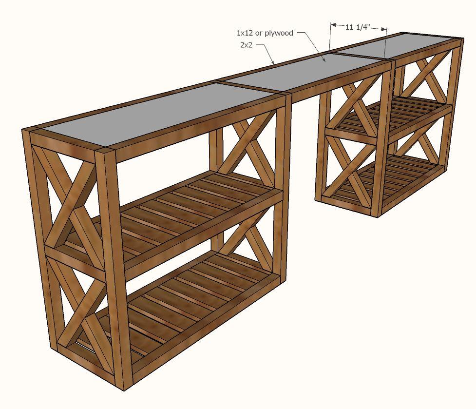 modern farmhouse console table decor