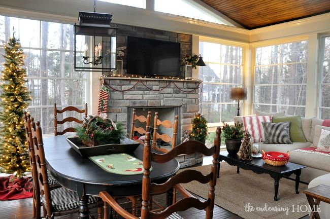 Holiday Home Tour 2015 The Back Porch Home Home Additions Farmhouse Dining Room