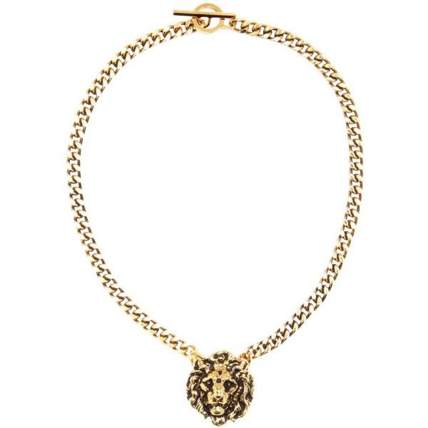 Saint Laurent Necklace (12,025 MXN) ❤ liked on Polyvore featuring jewelry, necklaces, gold, gold jewellery, gold jewelry, golden necklace, yellow gold jewelry and yves saint laurent jewelry