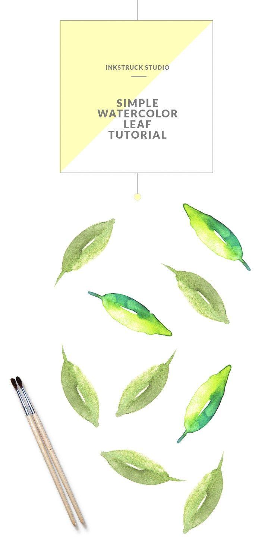 Paint A Simple Leaf In Watercolor Watercolor Art Diy