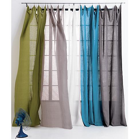 guest bedroom. FrenchBelgian swoon linen panel in curtain