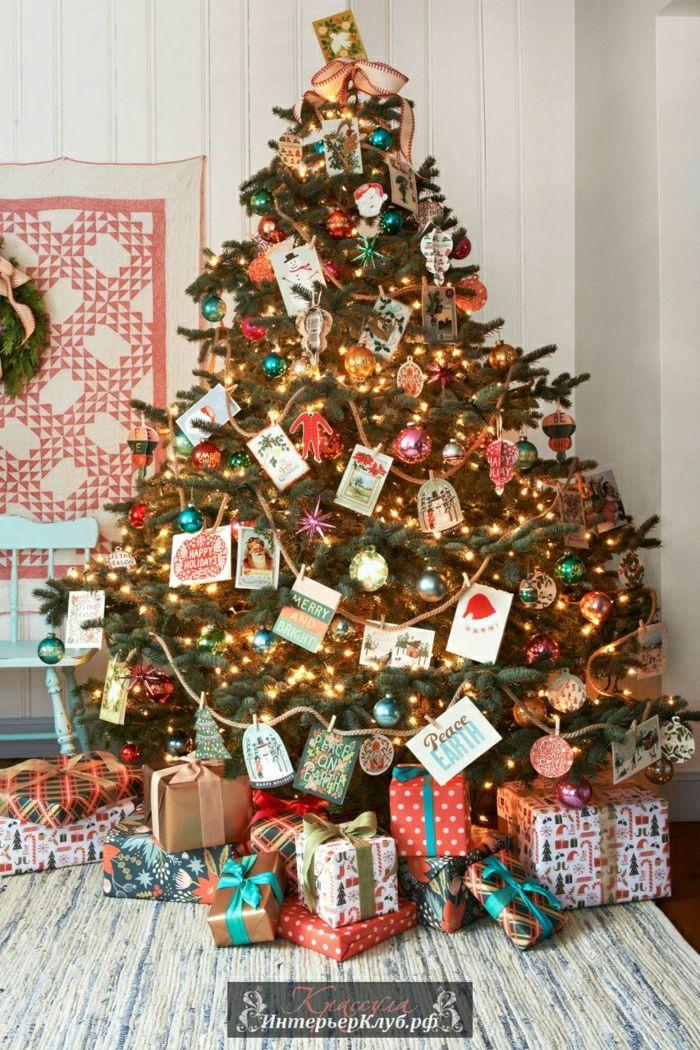 1001 ideas para decorar rbol de navidad con mucha clase - Decoracion de navidad casera ...