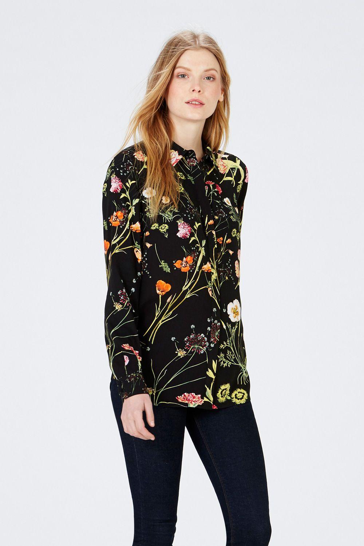 All Sale | Black Scatter Floral Shirt | Warehouse