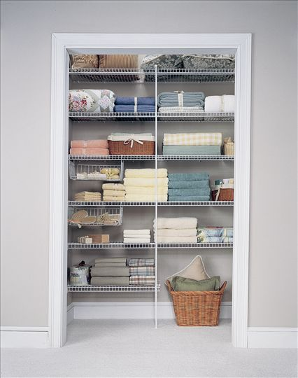 linen closet designs pictures | Wire Shelving & Accessories ...