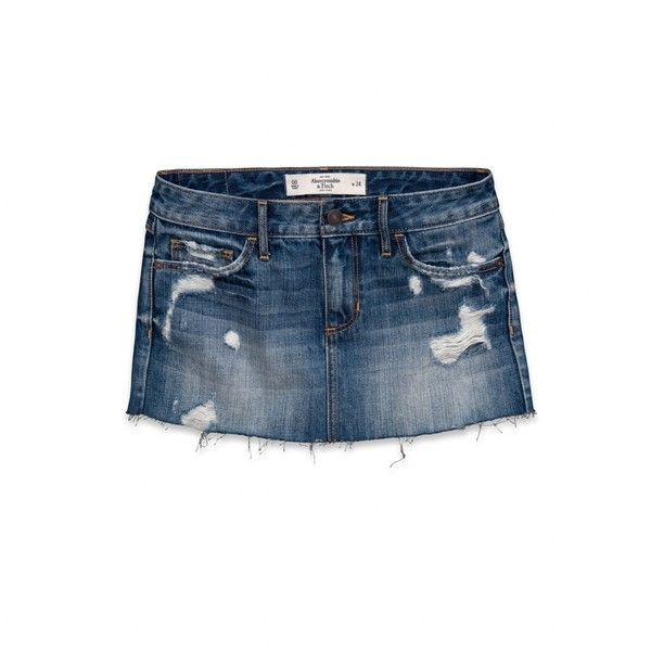 Abercrombie & Fitch A Denim Skirt ($54) ❤ liked on Polyvore