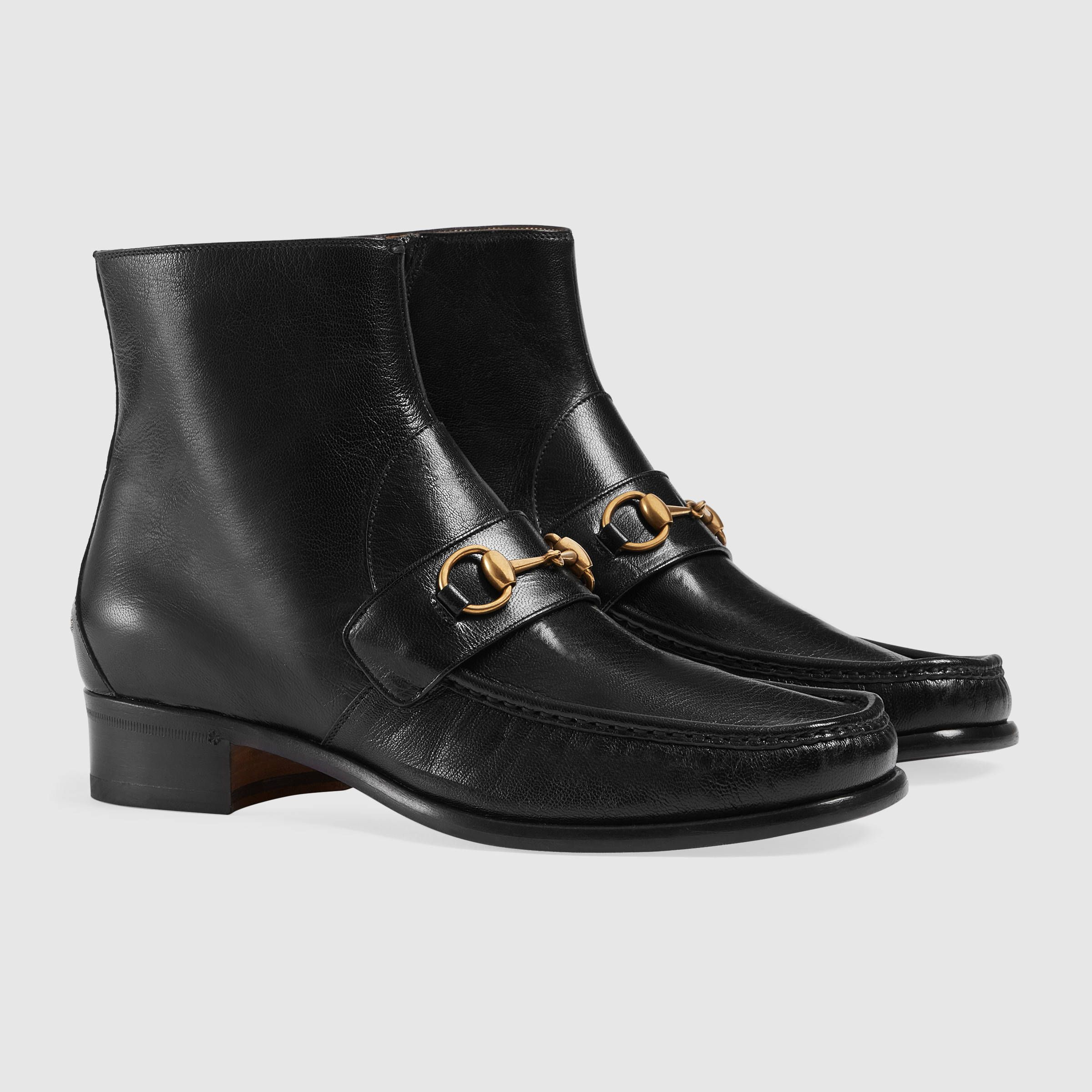 Gucci Horsebit leather boot VHHUrMyz
