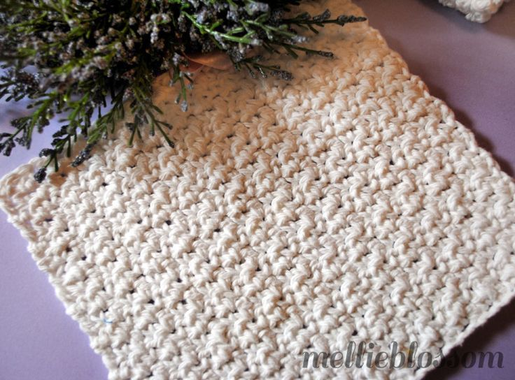 Free Easy Crochet Dishcloth Pattern - mellie blossom | Crochet Wash ...