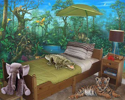 fabulous jungle house bedroom pictures | Decorating theme bedrooms - Maries Manor: jungle theme ...