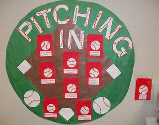 sports themed classroom displays