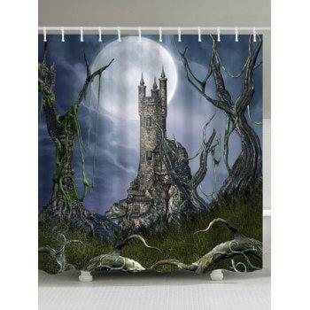 Vintage European Castle Shower Curtain