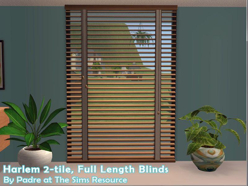 's Harlem II Blinds 2tile Blinds, Sims 4 windows