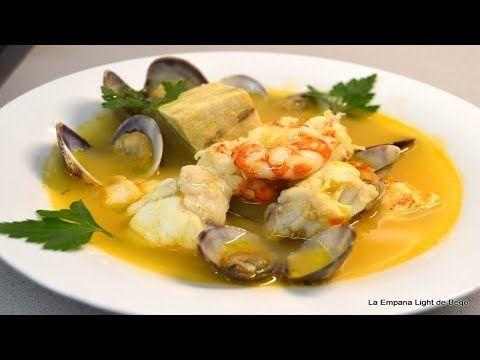 Sopa De Pescado Y Marisco Especial Navidad Youtube Mariscos Pescados Y Mariscos Recetas Fáciles