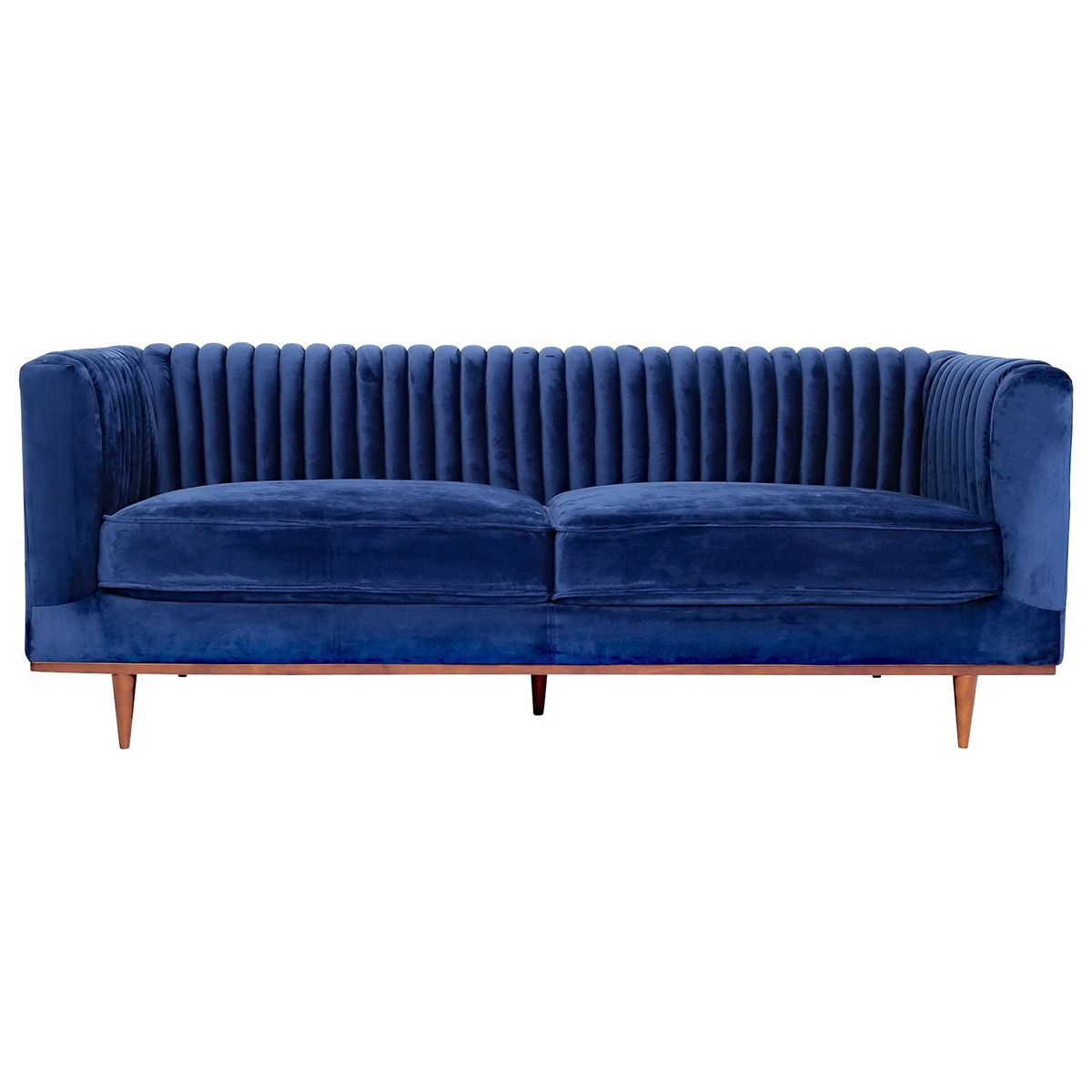Laurel Velvet Sofa In 2020 Blue Velvet Sofa Modern Velvet Sofa Velvet Sofa