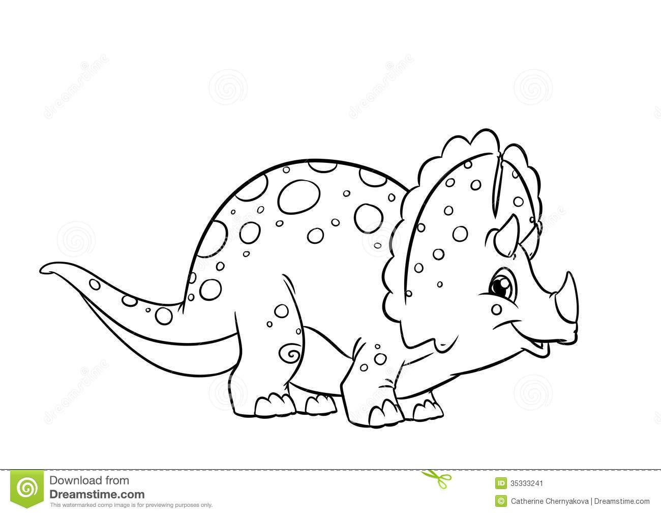 Dinosaur Triceratops Coloring Pages Download From Over 42