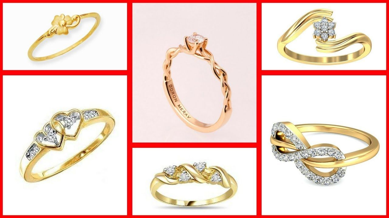 Latest Light Weight Stylish Classic Bridal Finger Gold Rings