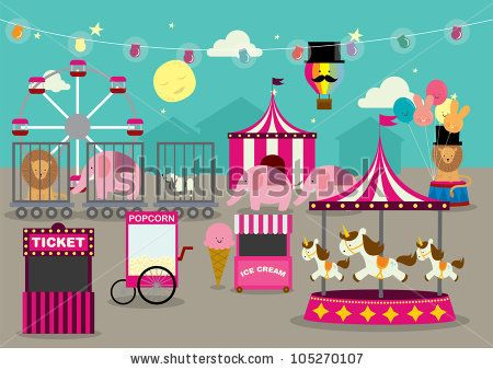 fun fair vector/illustration by lyeyee, via ShutterStock | Life is ...