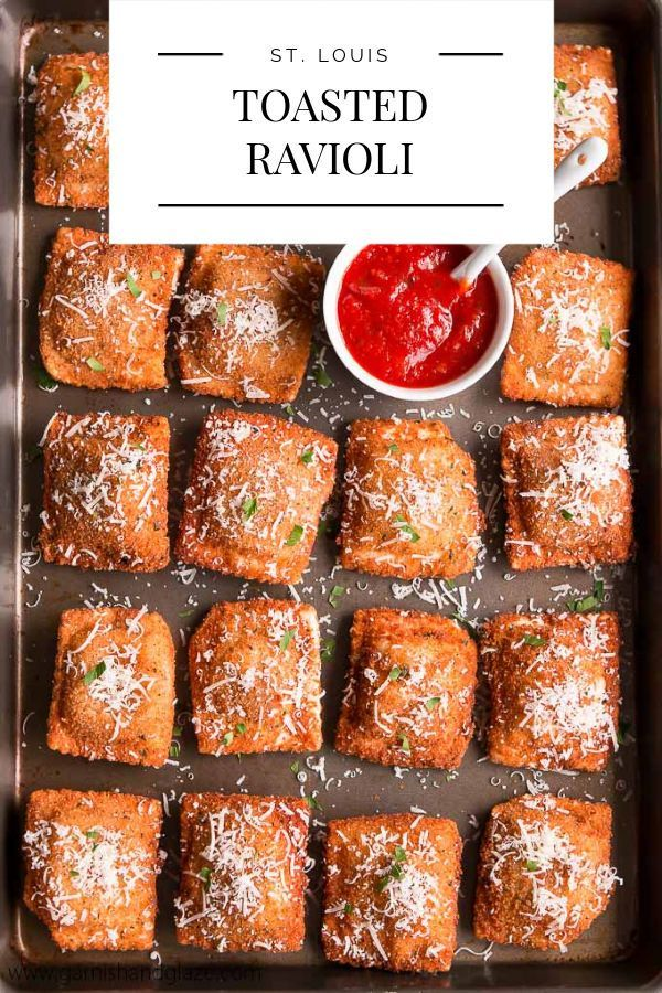 Toasted Ravioli Everything tastes better fried! These ravioli are breaded and then deep-fried until golden and crisp. You won't be able to resist these Toasted Ravioli!