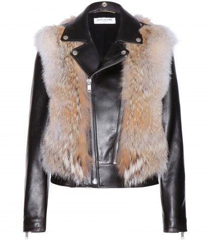 Saint Laurent Coyote Fur & Leather Jacket