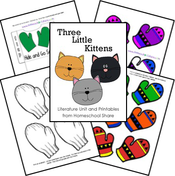 Free Three Little Kittens Unit Activities And Lapbook Printables