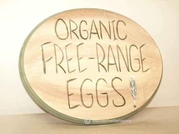 Farm Sign Organic Chicken Eggs Free Range Farmers Market Rustic ...