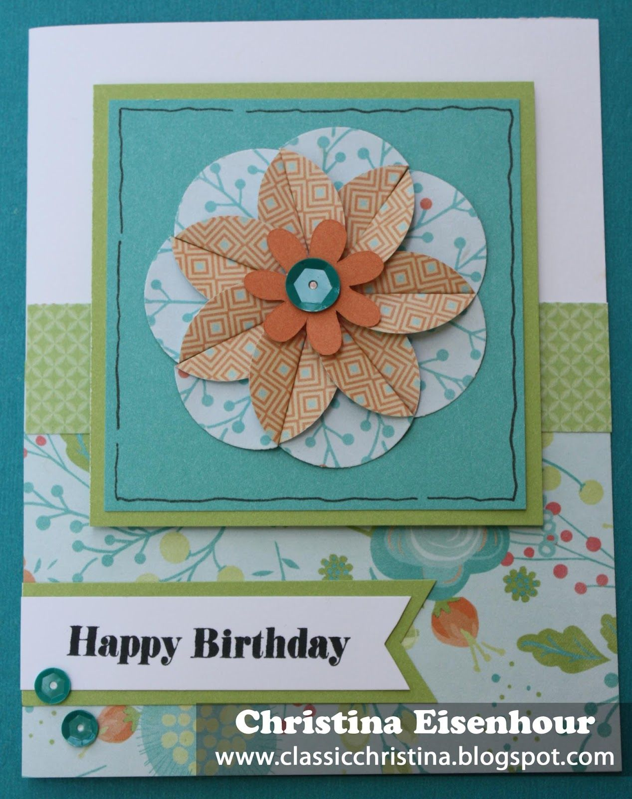 Birthday flower card featuring ctmh blossom paper birthday birthday flower card featuring ctmh blossom paper izmirmasajfo