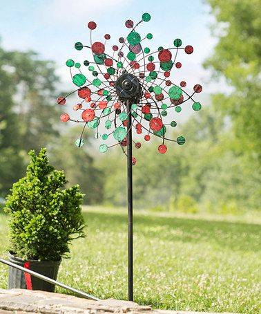 Another great find on #zulily! Red & Green Kinetic Garden Stake #zulilyfinds Good for FL Christmas decoration.