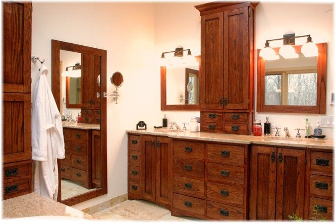 Custom design build bath vanity craftsman style - Westchester NY