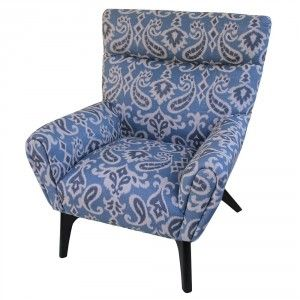 Best Large Blue White Paisley Fabric On Armchair Is Pretty 400 x 300