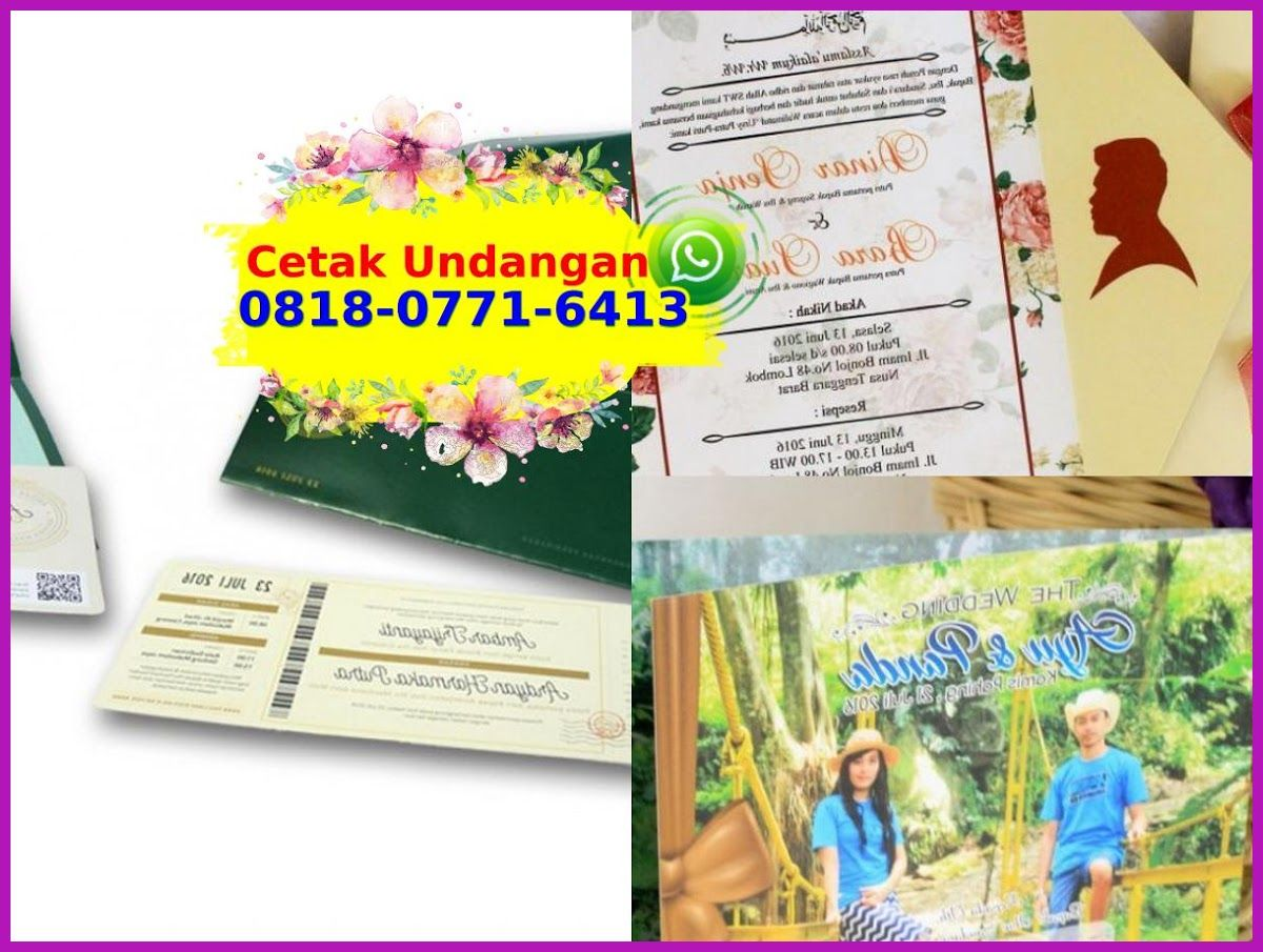 Kartu Undangan Nikah Murah Surabaya O818 O771 6413 Wa Nikah Book Cover Surabaya