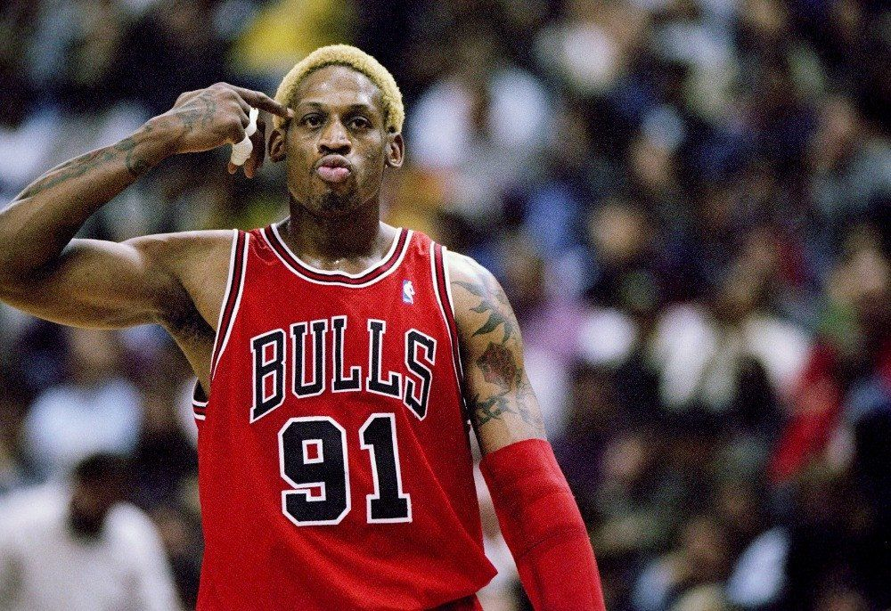 Dennis Rodman Basketball Star Poster 370 Online On Sale at Wall Art Store – Posters-Print.com