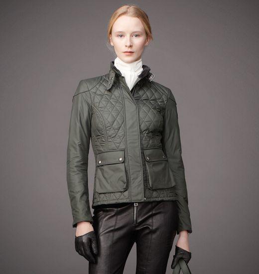 Belstaff Quilted Aynsley Jacket in Heritage Green