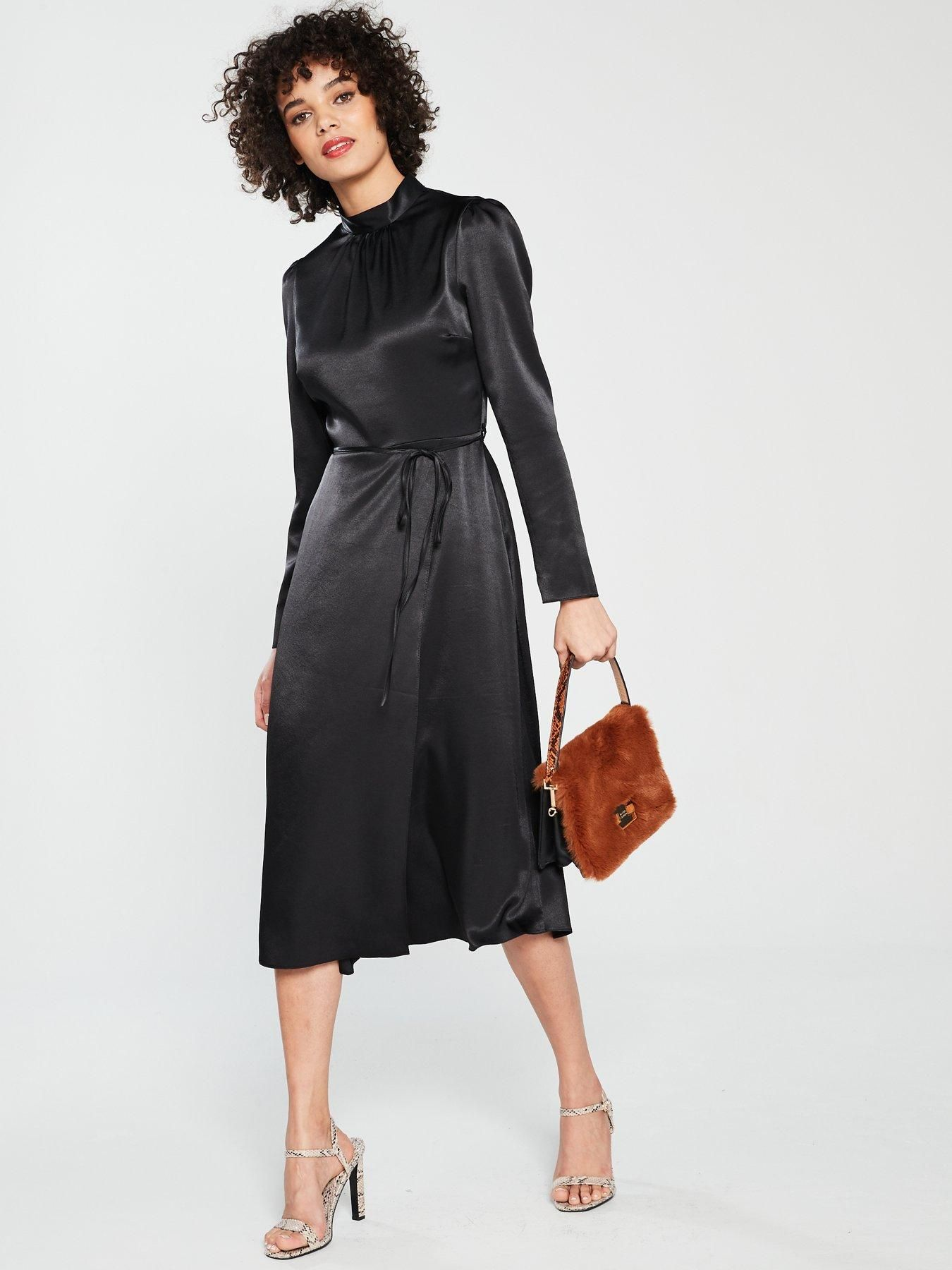 8201072f981 Waisted Midi Dress - Black in 2019 | Outfits | Black midi dress ...