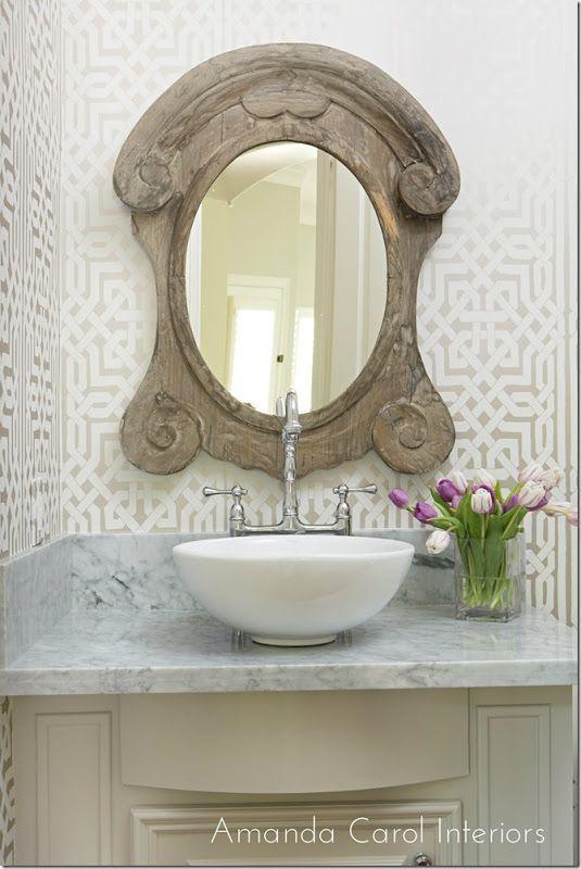 Lynn Chalk - Schumacher Malaga Wallpaper Flax, $67.99 (http://store.