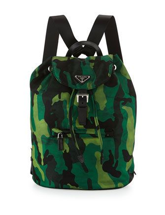 b06ec791a95c PRADA Tessuto Camouflage Backpack | Prada | Prada backpack ...
