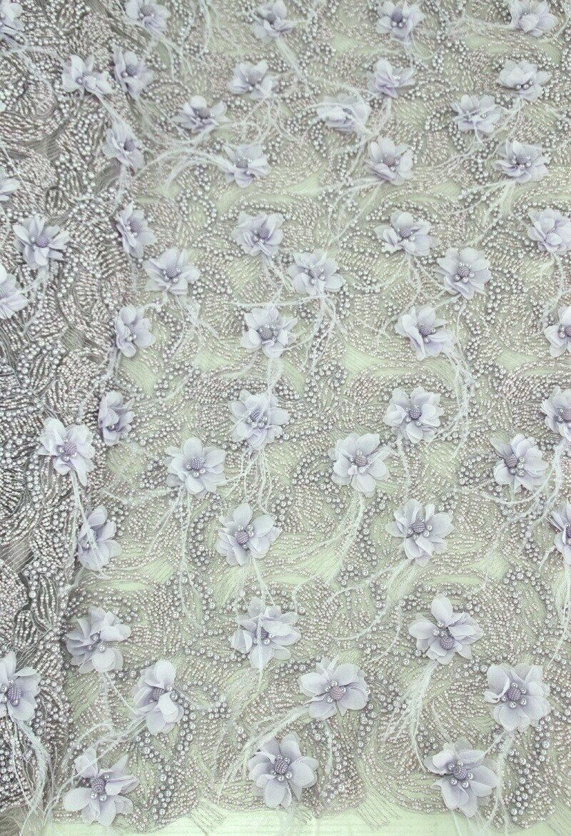 Beaded Guipure Lace Fabric