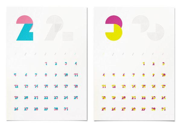 2012 Origianl Calendar by masaomi fujita, via Behance