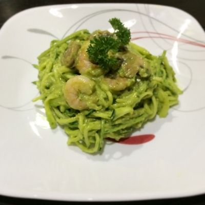 Ripped Recipes - Zoodles In a Creamy Citrus Avocado Sauce - Not only is this dish simple, delicious, and low in calories, it is also a dish that people can't help but stare at!