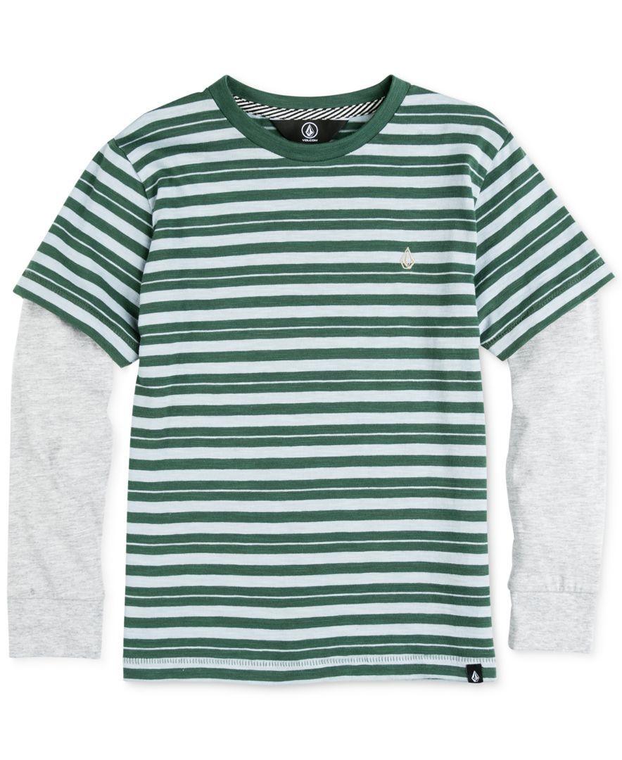 Volcom longsleeve stripe cotton tshirt big boys products