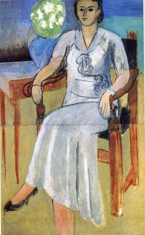 Woman with a White Dress, 1933-1934 Henri Matisse -