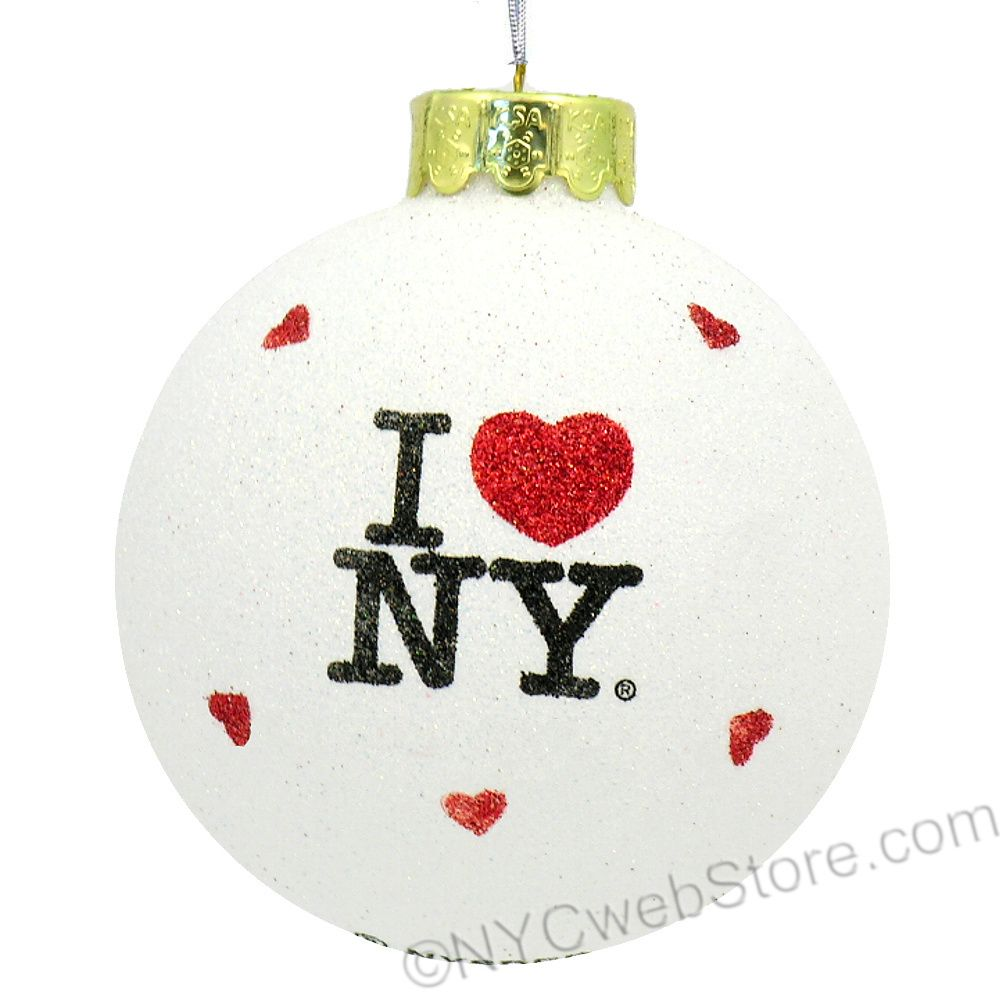I Love NY Glitter Ornament | New York Christmas Ornaments ...